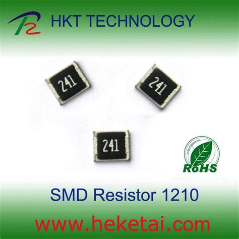 smd resistor material smd chip resistor 1210 china thick resistor chip resistor