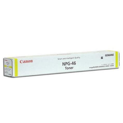 Canon Npg 46 Color Original canon npg 46 yellow imagerunner ad end 6 14 2015 9 15 pm