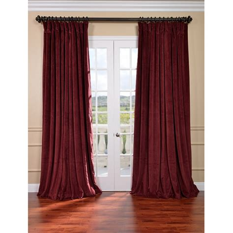 Burgundy Velvet Curtains Exclusive Fabrics And Furnishings Burgundy Velvet Blackout Wide Curtain Panel Panels