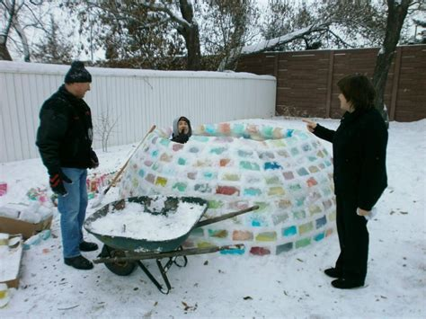 how to make an igloo in your backyard a very colorful backyard igloo for the books