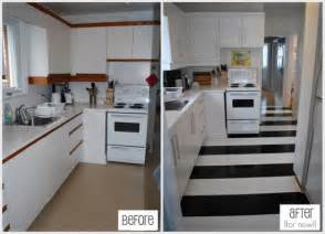 Cheap Kitchen Floor Makeovers How To Lay Vinyl Black And White Flooring In Stripes