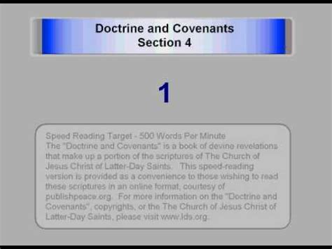 doctrine and covenants section 4 lds d c 4 doctrine and covenants section 4 www