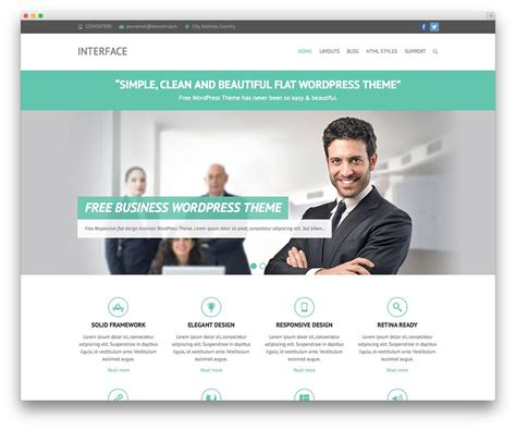 best templates for business websites 50 best free responsive wordpress themes 2017 colorlib