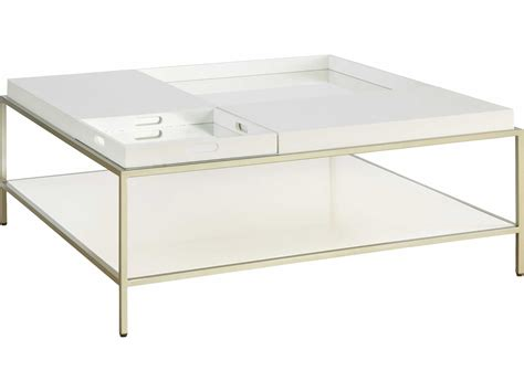 casana hemming low sheen ivory 42 square coffee table