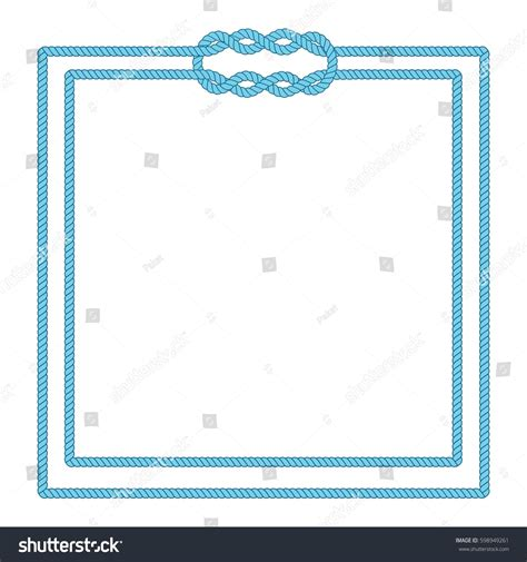 blank loop cards template blank poster template nautical border wedding stock vector