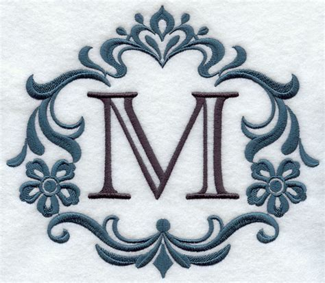 letter m layout machine embroidery designs at embroidery library
