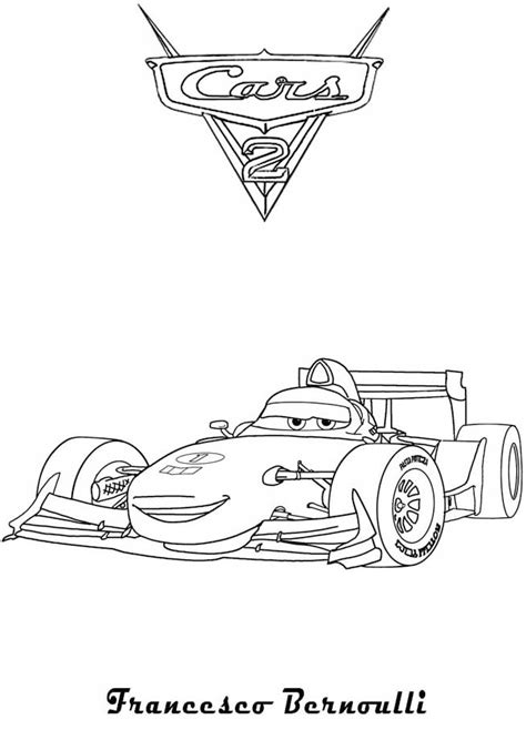 Cars And Cars 2 Coloring Pages Coloring Pages Cars 2 Coloring Pages Francesco