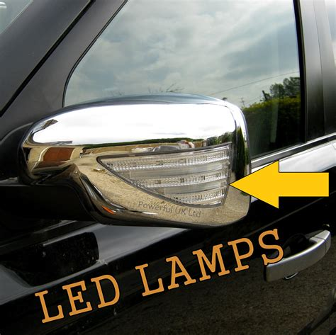 range rover welcome light chrome mirror cover caps led indicator welcome light land