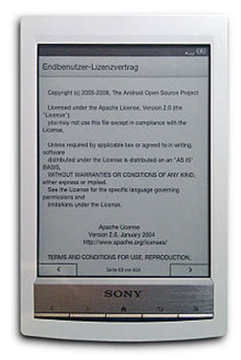 format sony ebook reader sony librie