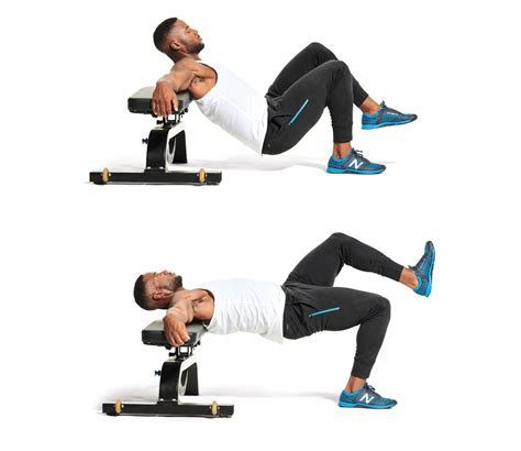 hip thrust bench single leg hip thrust men s fitness