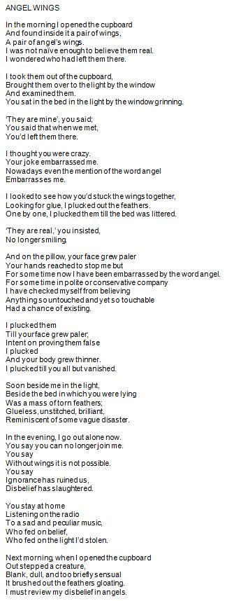 Words Brian Patten | angel wings love poems and wings on pinterest