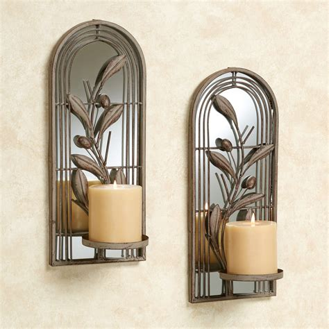 wall candle holders modern corvabria wall candleholder pair