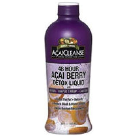 Acai Detox by Acaicleanse 48 Hours Acai Berry Detox Liquid With Lemon