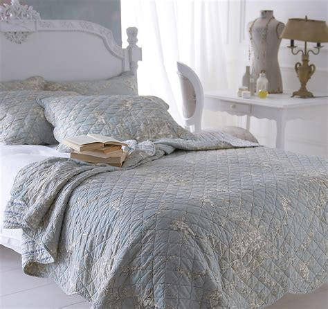 Quilted Bedspreads by Sashi Florence Quilted Toile Bedspread Pillow Sham Set