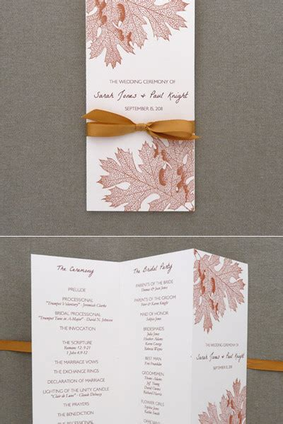 diy pearls and lace wedding program tri fold template add your