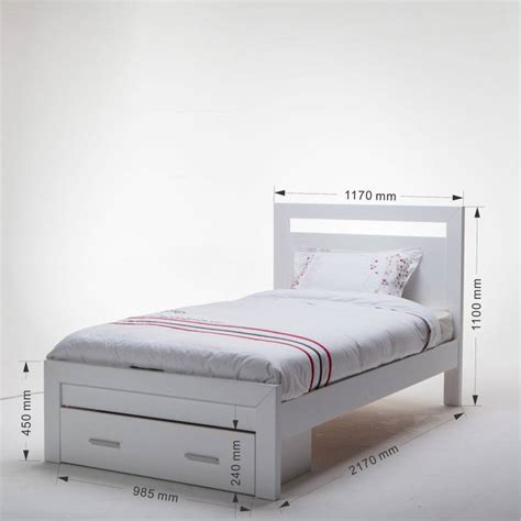 King Single Bed Frame With Storage Venus White King Single Bed Frame With Storage Buy King