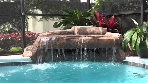 how to build a pool waterfall small grotto pool waterfall swimming pool rock watefall