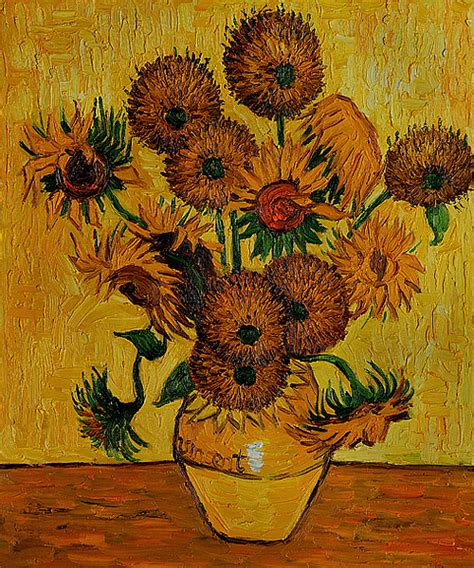 vase with fifteen sunflowers by vincent gogh for sale