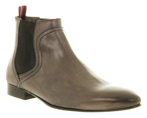 mens gray boots mens ted baker enapay 4 chelsea boot grey leather boots