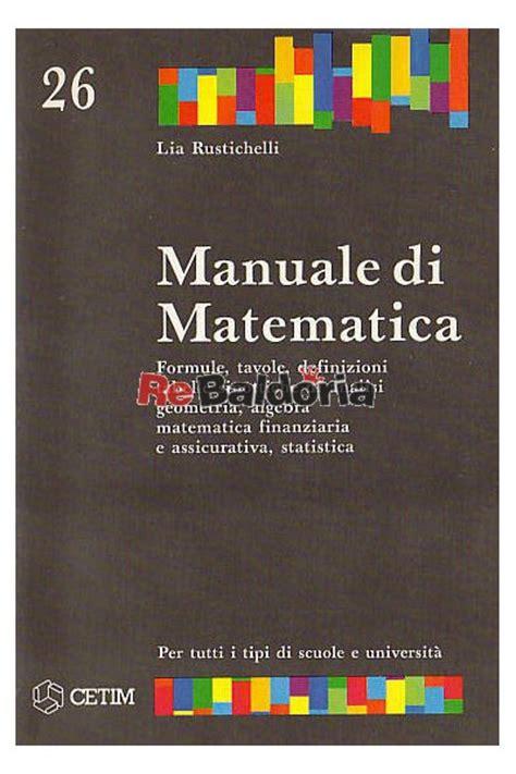tavole matematica finanziaria manuale di matematica formule tavole definizioni