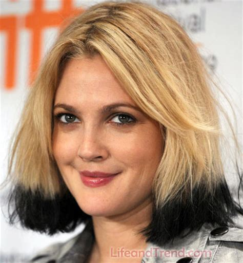 hair color two tone pictures 2013 drew barrymore medium hairstyle short hairstyle 2013
