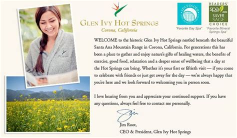 Glen Ivy Corona Gift Card - glen ivy hot springs spa and day spa corona california hot springs spa homepage
