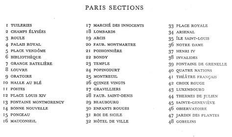 sections of paris paris sections romantic circles