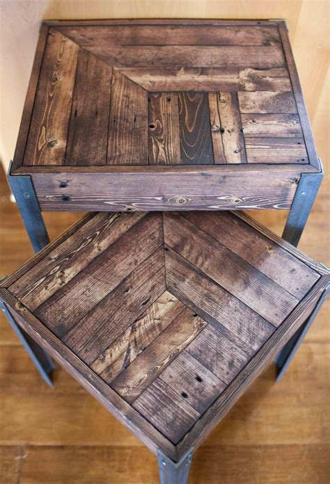 pallet wood table top best 25 wood and metal ideas on