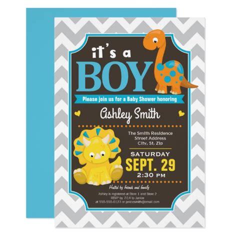 Dinosaur Baby Shower Invitation Boy Zazzle Com Dinosaur Baby Shower Invitation Template