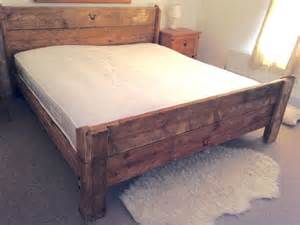 Handcrafted Bed Frames Shabby Chic Handmade Reclaimed Rustic 6ft Solid Wooden Superking Kingsize Single Bed Frame