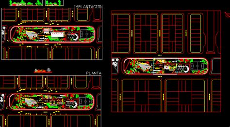 intervention  train station  dwg design  autocad