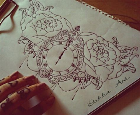 clock tattoo minus all the flowers tattoos pinterest
