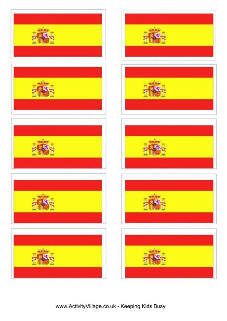 pattern party in spanish spain flag printable