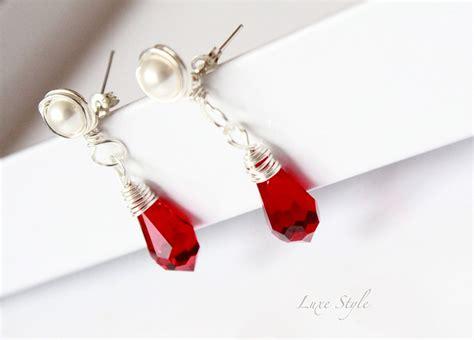 Handmade Contemporary Jewelry - drop earrings sterling silver earrings pearl stud