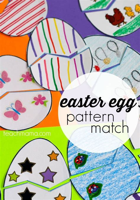 pattern matching for toddlers easter egg pattern match game for kids by kids easter