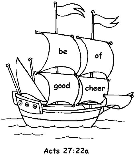 coloring pages book of acts acts 27 22 coloring page lorain county free net children