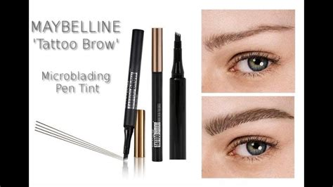 tattoo brow maybelline youtube new maybelline microblading pen tint tattoo brow review