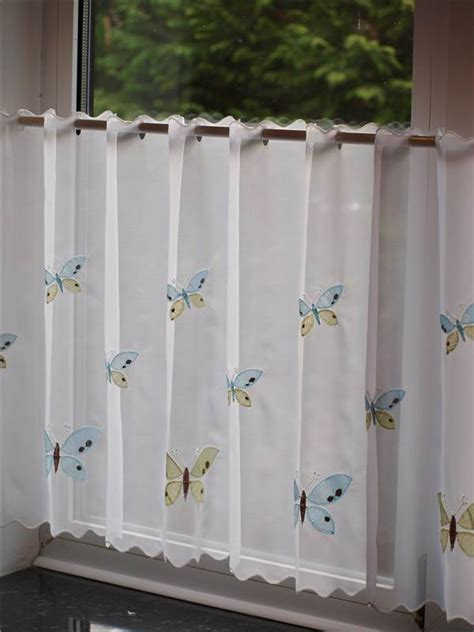 Cafe Curtains For Bathroom with Sheer Voile Cafe Panel Kitchen Bathroom Ready Made Tier Valance Curtain Ebay