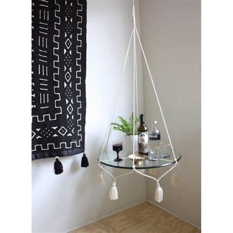 hanging table l white hanging planter frame boho hanging table macrame plant