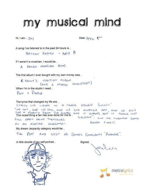my musical the wanted fill out our exclusive questionnaire my