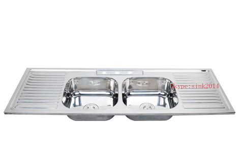 double drainer kitchen sink wy15050d double drainer double bowl kitchen sink big