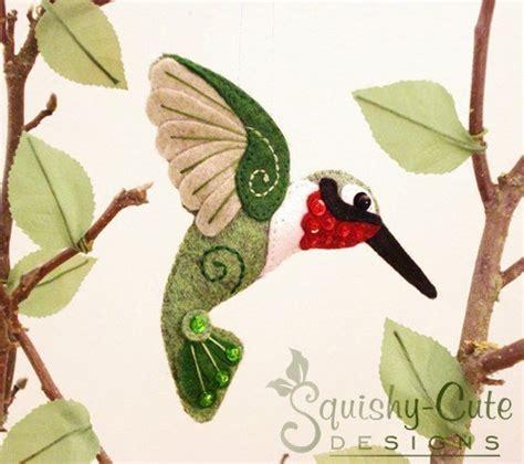 homemade hummingbird ornaments hummingbird sewing pattern pdf backyard bird stuffed ornament felt plushie harold the