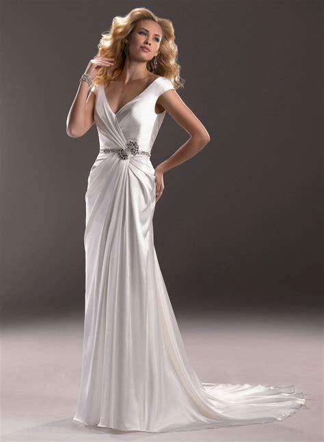 buy cheap deep v neck back bride dress for wedding party