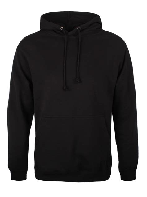 Hoodie Sweater Acdc Black Terlaris plain hoodie black pullover mens xl 42 44 quot ebay