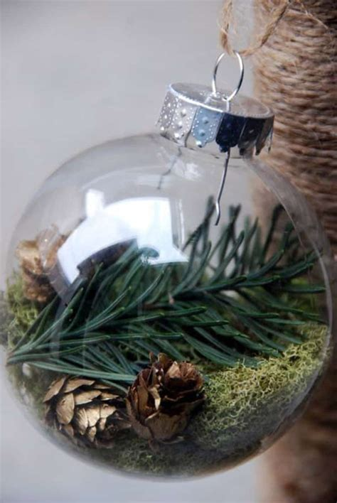 15 clear glass ornaments