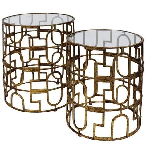 raz 25 quot gold circle nesting tables home decor home trellis end tables s 2 tables pinterest