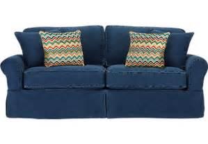 High Back Loveseats Cindy Crawford Home Beachside Blue Sofa Sofas Blue