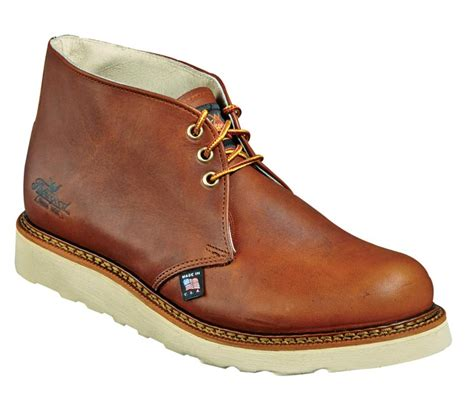 wedge sole work boots thorogood 814 4513 chukka 6 inch wedge sole work boots