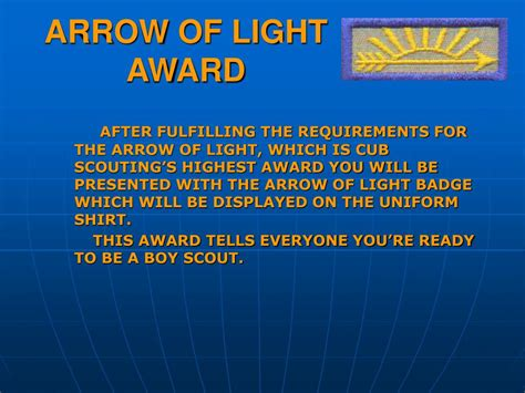 arrow of light award knot ppt arrow of light requirements powerpoint presentation