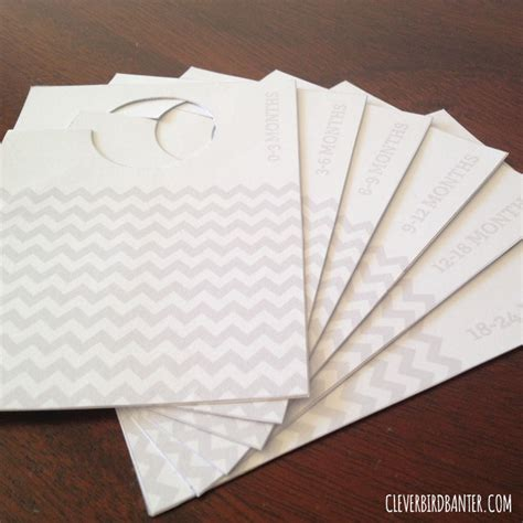 diy baby clothes dividers free printables clever bird